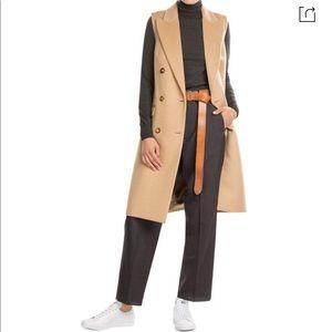 Michael Kors Virgin Wool Vest Cashmere In Camel